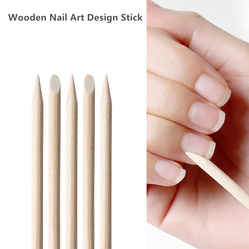50Pcs Wooden Cuticle Pusher Nail Art Cuticle Remover Wood Sticks For Cuticle Removal Manicure Nail Art Tools