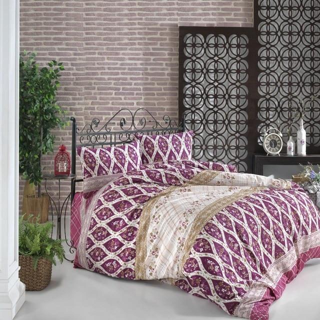 100% من القطن طقم غطاء السرير مزدوجة 4