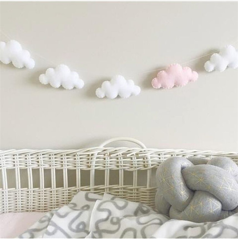 INS Nordic Coloful Cloud Decor Baby Room Decoration Wall Hanging Bedding Bumpers Kids Party Kids Girls Room Decor