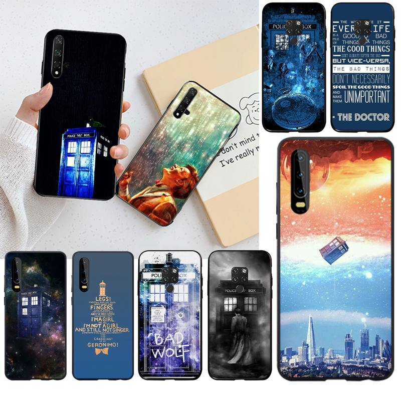 HPCHCJHM Hot Tardis Doctor Dr Who Police Box Phone Case Cover for Huawei P30 P20 lite Mate 20 Pro lite P Smart 2019 prime