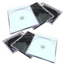 6 pces caixa de plástico dvd caixa de armazenamento de cd portátil caixa de pacote de cd durável caixa de dvd para a loja de cinema em casa (aleatório)