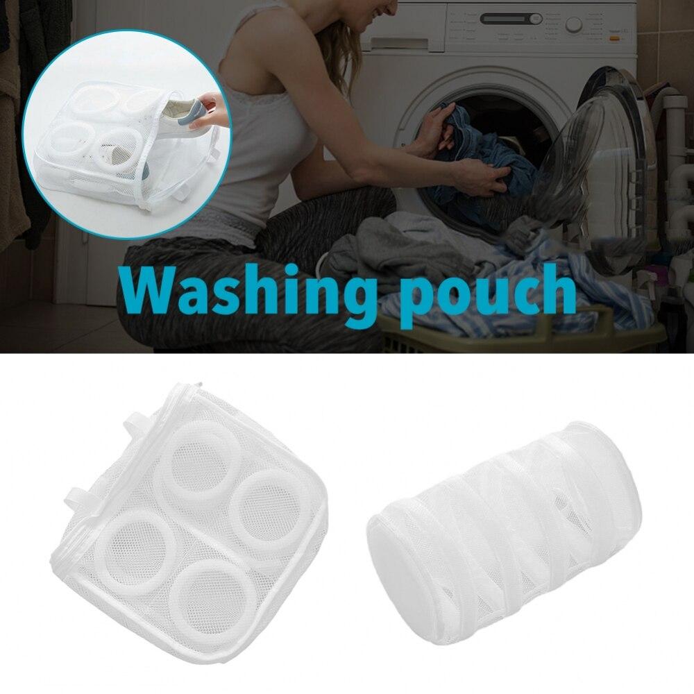 Nylon Laundry Bag Wash Shoes Trainer Sports Sneaker Tennis Boots Shoes Laundry Mesh Washing Machine Bag Storage 4
