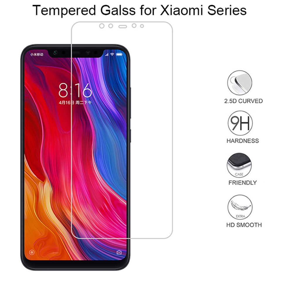 Glass Film on For Xiaomi mi 9t pro redmi k20 pro 7 7a pro Tempered Glass Screen Protectors (2)