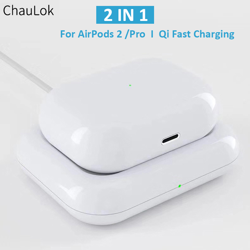 2 In 1 7 5w Qi Fast Charging Wireless Charger Station For Apple