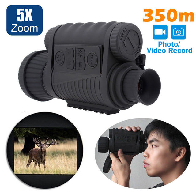 LS 650 6X50 720P 350M Range Infrared Night Vision Sight Goggle Monocular Video Photo Recorder DVR for Outsport Hunting Camera