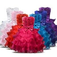 Vestido de princesa con flores para niñas, vestidos infantiles para fiesta de cumpleaños y boda de 5, 6, 7 y 8 años
