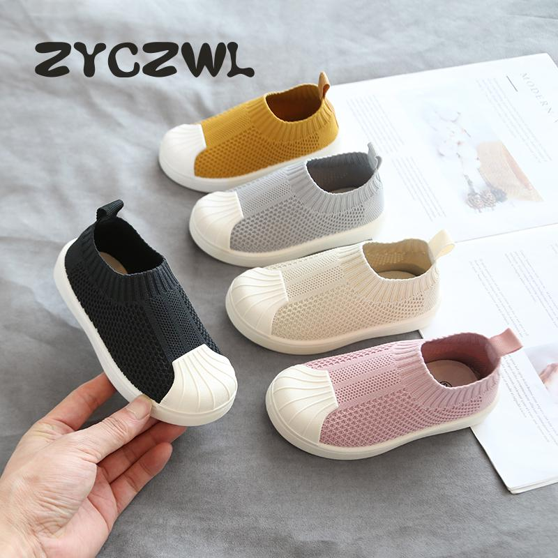 2020 Infant Toddler Shoes Autumn Baby Girls Boys Casual Shoes Soft Bottom Comfortable Non-slip Outdoor Children Knitted Shoes