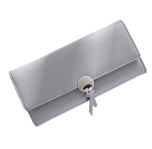 wallets women Lady wallet Hasp  Solid  Fashion Interior Slot Pocket Organizer Wallets Long purse Ready goods Hand bag for lady