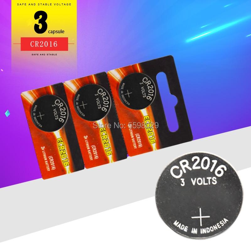 3pcs למעלה איכות עבור אנרג 'ייזר 3V cr2016 כפתור סוללה שעון מטבע סוללות cr 2016 DL2016 ECR2016 עבור ראשי לוח צעצוע