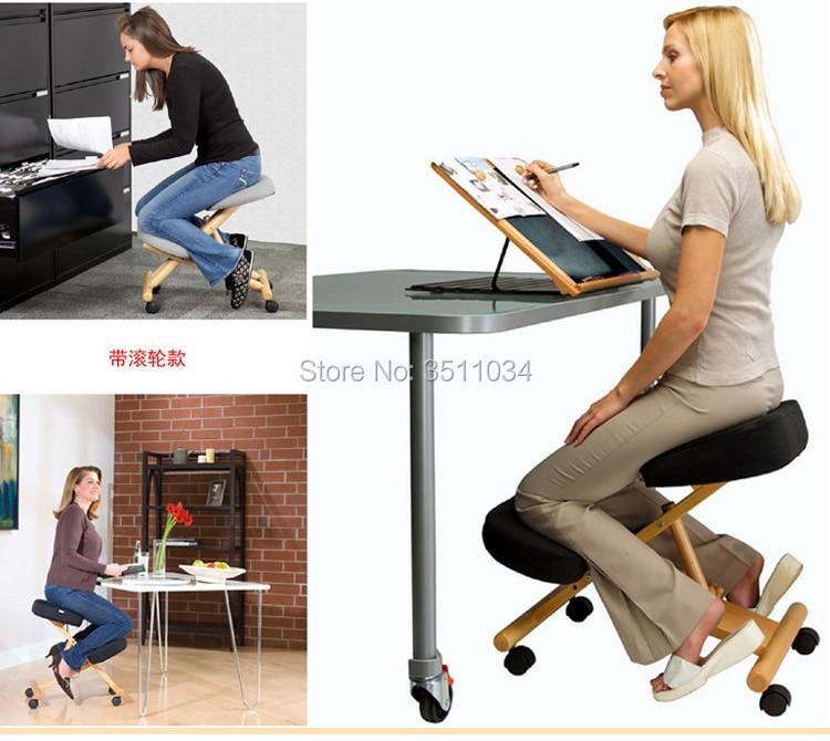 2019 Новый эргономичный коленный стул с тихий шкив на коленях стул из дубового дерева современная офисная мебель компьютерное кресло