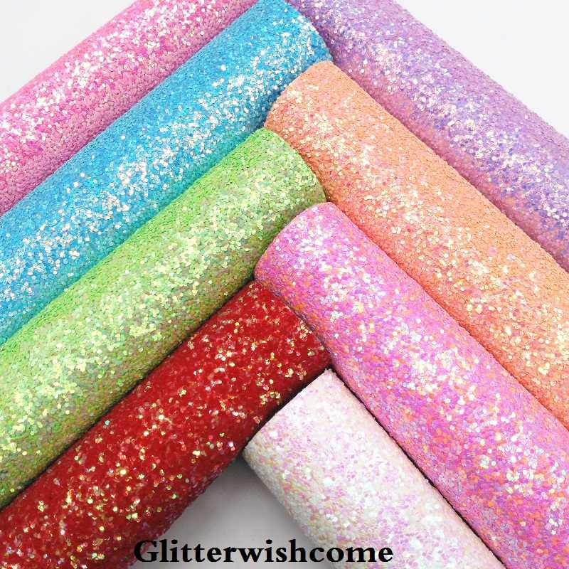 Fabric leather imitation glitter silver rainbow colour colourful glimmering