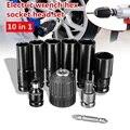 10 stücke Elektrische Schlüssel hex buchse kopf Kits set für Schlagschrauber Bohrer-in Elektrische Schraubenschlüssel aus Werkzeug bei