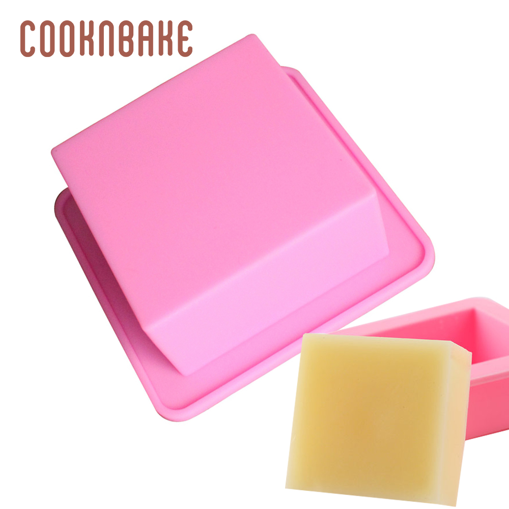 COOKNBAKE Silicone Handmade Soap Mold Inner Diameter Of 6 * 6 * 3cm Straight Square Box Silicone Cake Pastry Mold  CDSM-088