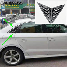 For Audi A3 S3 Sline Sedan Auto Car Side Window Air Vent intake Decoration Trims 2014~2017