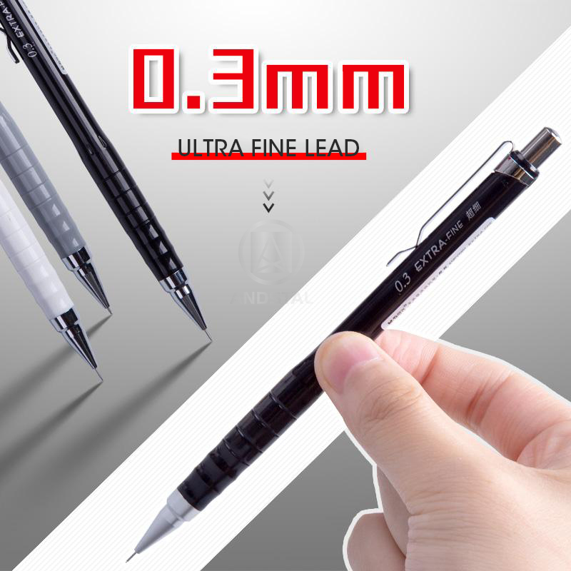 M&G ULTRA FINE 0.3mm Mechanical Pencil Lead Professional Automatic Auto Pencils Student Drawing For School Office Supplies