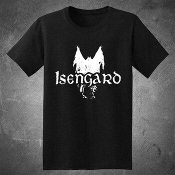 New Isengard Black Metal Band Logo Men'S Black Tee T-Shirt Usa Size S-3Xl Fq1 Streetwear Tee Shirt