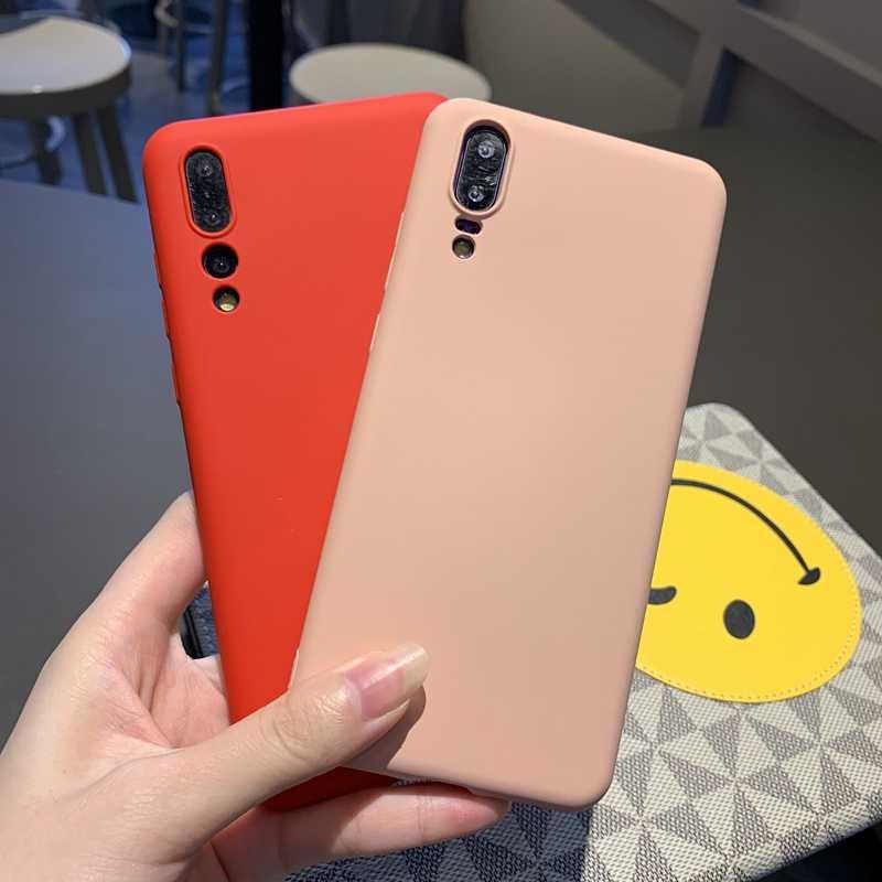 สำหรับ Huawei P20 P30 Mate 10 20 Nova 3 3i 4 5 Honor 8 8X9 SE10 10i 20 20i Lite Pro สี Matte Soft ซิลิโคนเหลว
