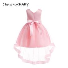 ChouchouBaby Kids Clothing Evening Wedding Gown Tutu Princess Dress Flower Girls Children Clothing Kids Party For Girl Clothes 3 недорого