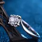 Luxus GIA Diamant Engagement Ring Solitaire Für Frauen 0.2ct Natürliche GIA Diamant Klassische Design 4 klaue Hochzeit Band - 4