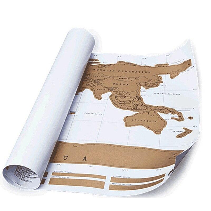 Scratch Map Show World Map English English Yellow Map Scrape Map World Edition Scratchable Poster