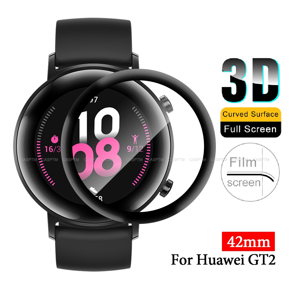 3D Full Cover Screen Film For Huawei GT2 42mm Hydrogel Film Soft Glass For Huawei GT 2 42mm Smart Watch Protector Film Accessory