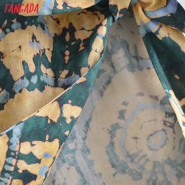 Tangada 2021 Fashion Female Tie Dyed Print Long Tank Dresses for Women 2021 Female Casual Beach Dress 3H540 4