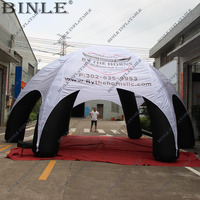 Custom oxford fabric inflatable spider tent with LOGO printed waterproof air dome tent with blower toy tent