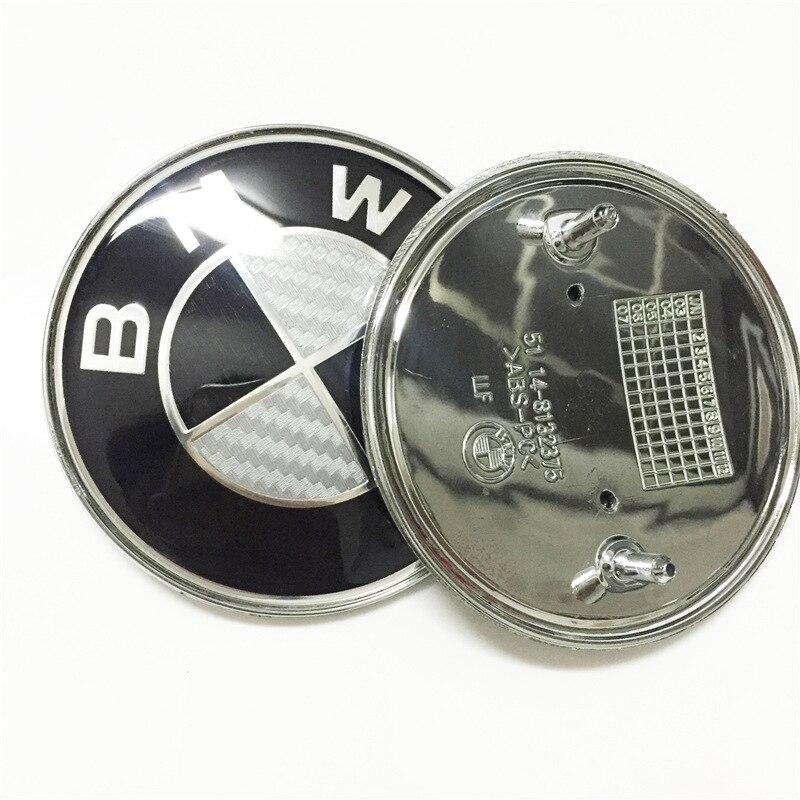 1pcs 72mm 82mm Car Emblem Badge BONNET Hood Front Rear Trunk Logo For Bmw E46 E39 E38 E90 E60 Z3 Z4 X3 X5 X6 Car Accessories