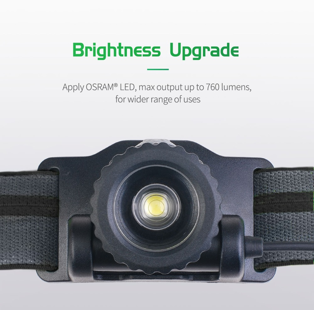 Huntvp Rechargeable LED Headlamp Brightess Waterproof Headlight Head Torch for