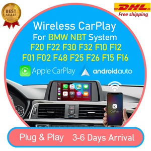 Wireless CarPlay Android Auto interface Box for BMW F20 F22 F30 F32 F10 F12 F01 F48 F25 F26 F15 F16 2013-2017 NBT MuItimedia iOS(China)