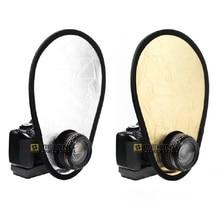 Selens refletor de fotografia portátil, refletor de fotografia com luz dobrável e dourado em prata de 30cm 12in 2 em 1, acessórios de fotografia