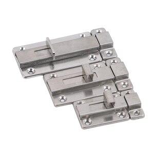 Stainless Steel Self-Elastic Bolt Home Security Sliding Window Wooden Door Anti-Theft Bolt Wooden Door Latch Lock