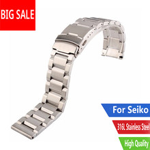 CARLYWET 18 20 22 24mm TOP Qualität Silber Gebürstet Feste Edelstahl Armband Uhr Band Strap Für Seiko SKX tudor Tag Heuer