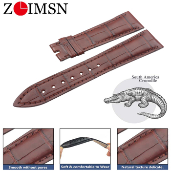 ZLIMSN Genuine Crocodile Strap Hand Made Watch Straps For Breguet Watch Band 20 mm Providing Private Customization Service Band image