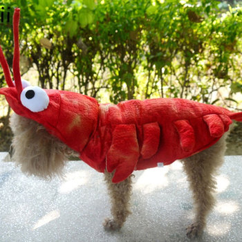 Pet Costume Interesting Cosplay Coat Lobster Shape for Cat Puppy Dog Clothes 2019 New Fashion Cute dog clothes  Set10