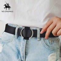 NO.ONEPAUL Véritable qualité dames de la mode dernière boucle en métal sans aiguille ceinture boucle de jeans sauvage marque de luxe de la ceinture de femmes pour