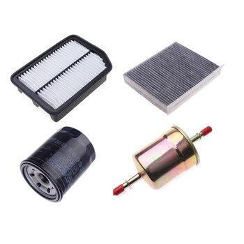 4pcs/set Filter kit for 2018 new CHANGAN CS35 plus 1.6L air filter&oil filter&fuel filter&cabin air filter car air filter cabin filter oil filter for brilliance h230 42809253 87139 06060 md135737