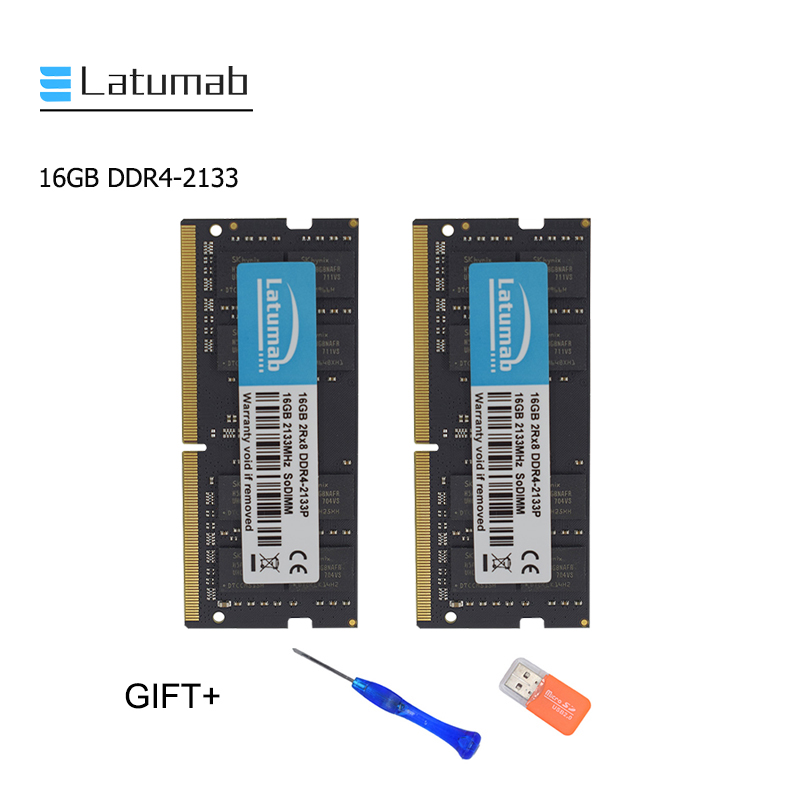 Latumab New 16GB <font><b>32GB</b></font> <font><b>DDR4</b></font> 2133mhz 2133 Laptop Memory So Dimm Memory <font><b>Ram</b></font> 260 Pins High Quality Notebook Module SODIMM <font><b>DDR4</b></font> <font><b>RAM</b></font> image