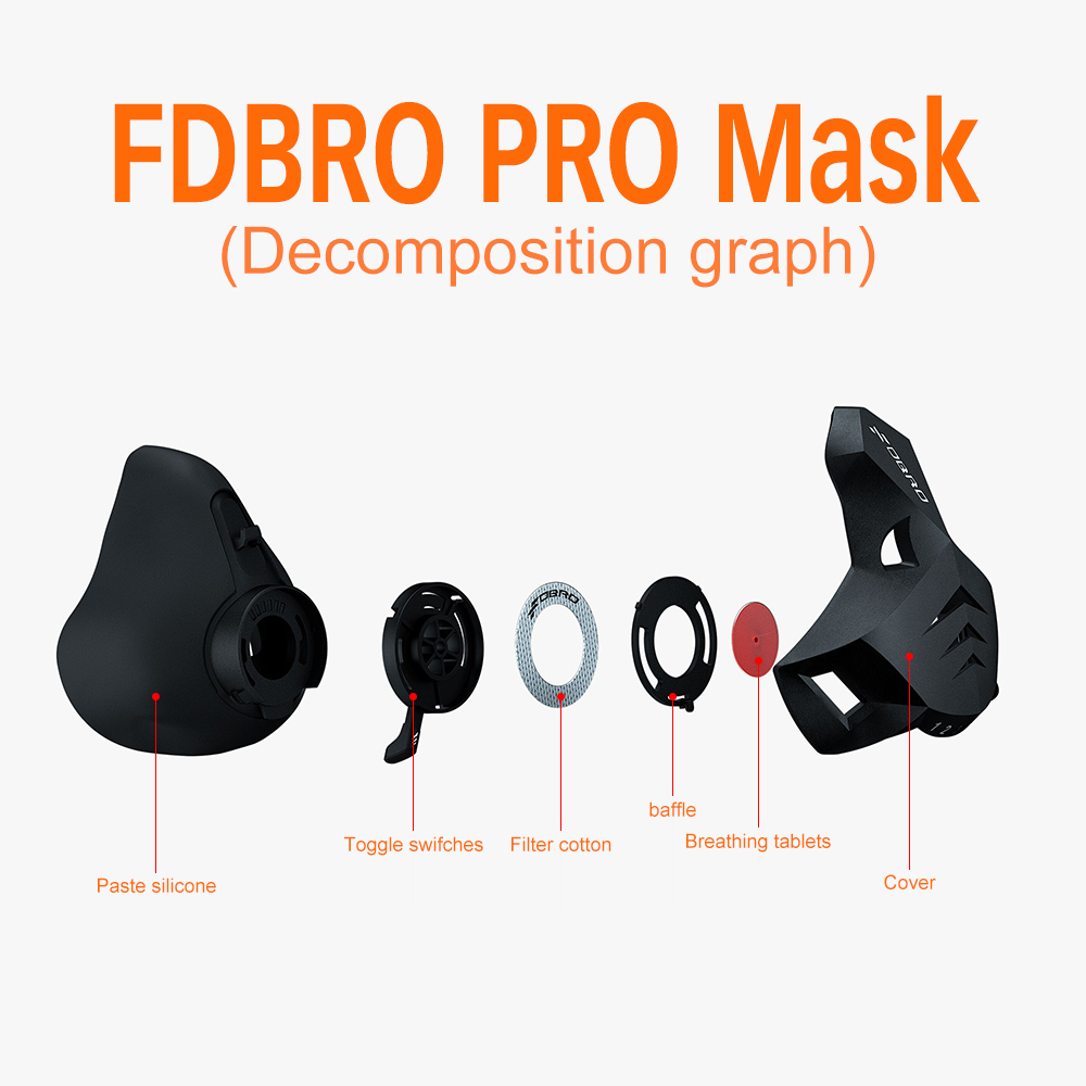 Image 4 - FDBRO Fitness training sports mask Pro Exercise Workout Running Resistance Cardio Endurance sport High Altitude Athletics Mask-in Masks from Security & Protection