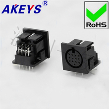 5 PCS DS-13-04a Square SD Large terminal connector generous 13-core 15-pin socket 13PIN needle DIN Master