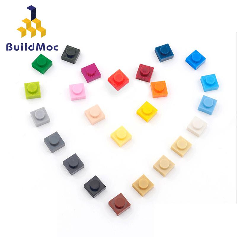 100pcs lot DIY Blocks Building Bricks Thin 1x1 Educational Assemblage Construction Toys for Children Size Bricks Bulk Model Kids