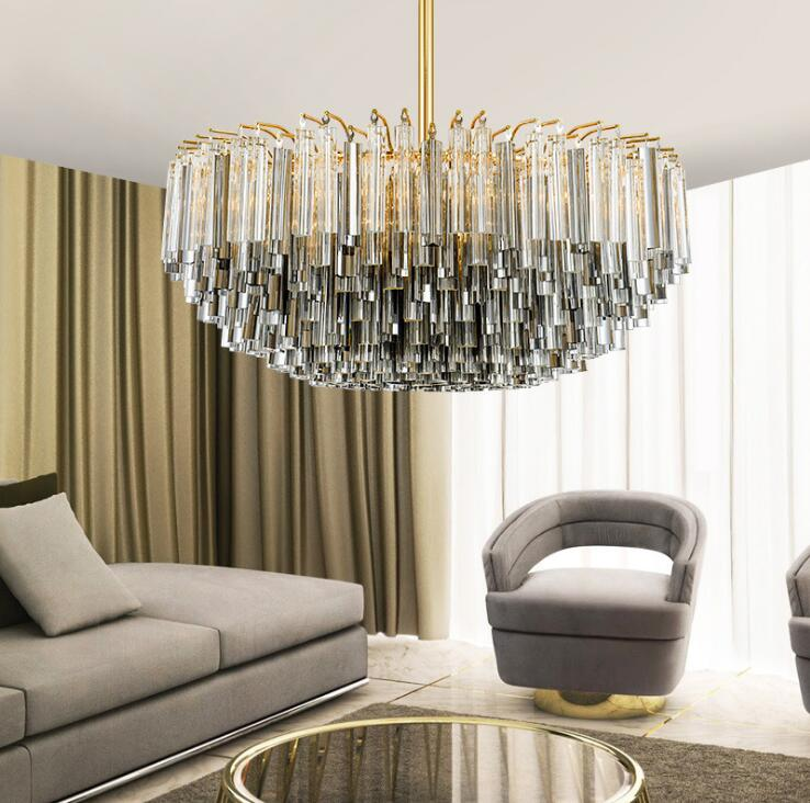 Lyustra Lampa Nordic Luxury Creative Crystal Chandelier Post Modern Neoclassical Villa Living Room Hall Dining Room