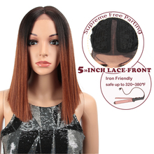 MAGIC Straight Synthetic Hair Lace Front And T Part Wig 14 I