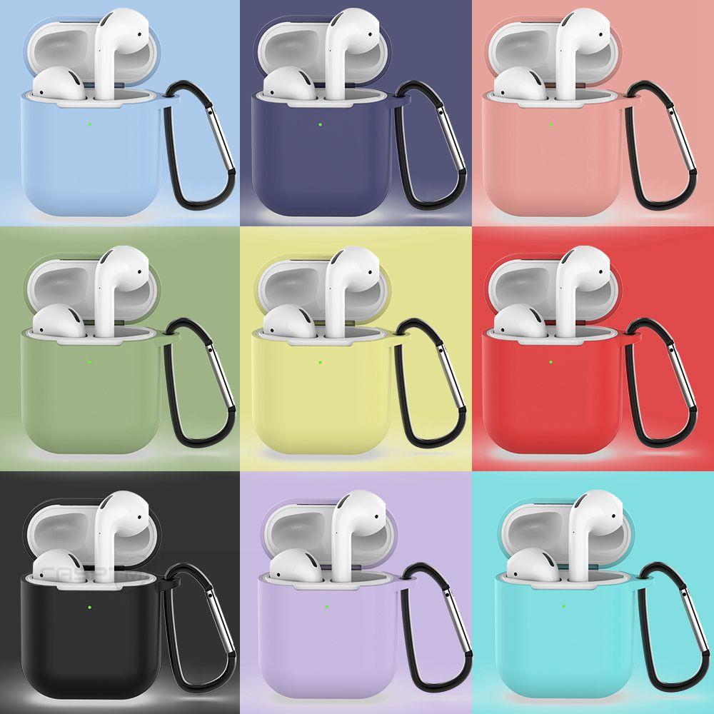 Чехлы для наушников airpods apple защитные силиконовые кейсы