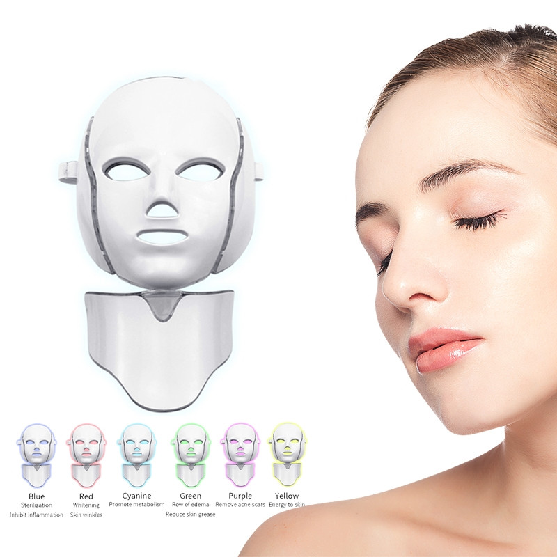 Beauty Led Face Mask LED Photon Facial Mask 7 colors Light Therapy for Beauty Rejuvenation Wrinkle Acne Removal moisturizing Spa