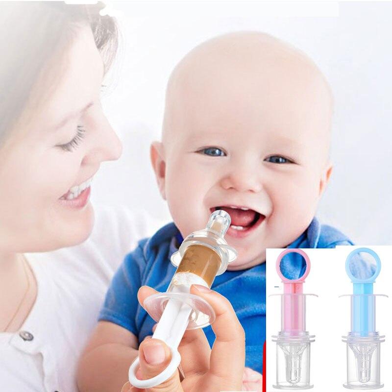 Baby Kids Smart Medicine Dispenser Needle Feeder Newborn Squeeze Medicine Dropper Dispenser Infant Pacifier Feeding Utensils