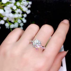 Image 3 - Moissanite 성격 디자인 새로운 반지, 925 순은, 아름다운 색깔, 번쩍이는, 1 캐럿 2 캐럿 다이아몬드 d vvs1