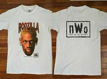 Camiseta vintage 90 & aposs rodzilla dennis rodman nwo 1998