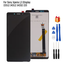For Sony Xperia L3 I3312 I4312 I4332 I3322 LCD Display Touch Screen Digitizer Assembly For Sony L3 Screen LCD Replacement Parts screen for sony xperia z3 compact lcd touch display d5803 d5833 digitizer frame for sony z3 mini screen replacement adhesive