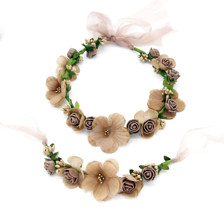 Multi Flor Artificial Cabeça Paternidade Terno Pulseira